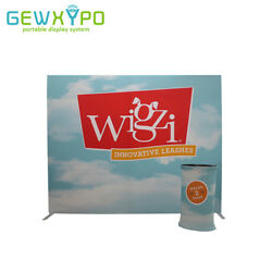 10ft*8ft Straight Single-Side Printed Banner Fabric Backwall With Portable Table