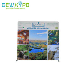 8ft8ft Portable Straight Trade Show Display Wall With One Side Printed Banner