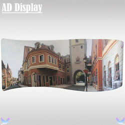 20ft*7.5ft S Shape Pop Up Booth Fabric Display Wall With One Side Printed Banner
