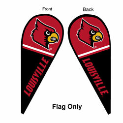 Louisville Cardinals Feather And Swooper Flag