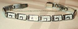Rare Vintage Famous Signed Taxco Sterling Silver Mexican Bracelet
