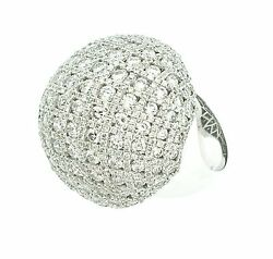 8.12 ct Large Diamond Criss Cross Dome Ring in 18K White Gold  - HM1338RB