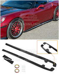 For 05-13 Corvette C6 Base  ZR1 Style CARBON FIBER Side Skirts Panel Mud Flaps