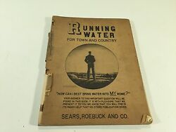 Vintage 1940 Sears And Roebuck Running Water For Town And Country Catalog