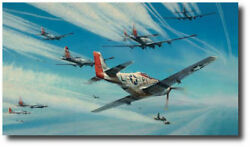 Jet Hunters by Robert Taylor - Mustang - Me262 - WWII - Military Art