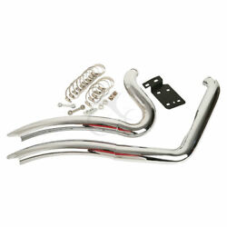 Attitude  Exhaust Headers Chrome Trouble Maker 1986-2016 softail For Harley
