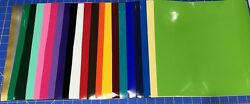 12 12x12 Sheets Oracal 651 Craft Adhesive Vinyl For Cricut Choose Or Mix Color