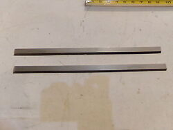 A Pair Of 16 X 3/4 X 5/32 Hss Jointer Knives Set Of 2 - New