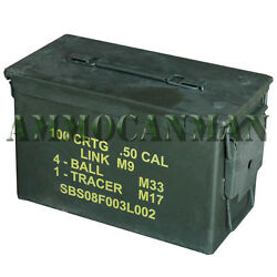 50 Cal. Ammo Can Surplus Stenciled