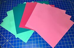 Vinyl For Cricut Oracal 651 Adhesive Vinyl 12 12x12 Sheets Pink, Mint, Turquoise