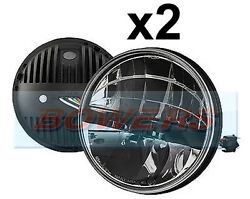 2 X Land Rover Defender Lhd Truck-lite 27290c 7 Round Led Headlamps Headlights