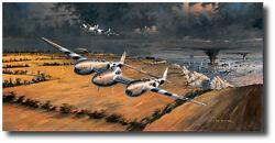 Front Row Seats Artist Proof By Ross Buckland - P-38 Lightning - Robin Olds