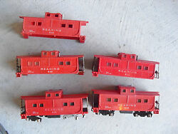 Lot Of 5 Vintage 1950s American Flyer S Scale Reading 630 Caboose Car Shells