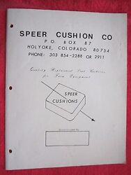 1970and039s Speer Cushion Co. Holyoke Colorado Tractor Seat Catalog Deere Accaseih