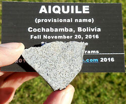 1st On Ebay 8.25g Aiquile Meteorite Slice From Nov 20 2016 Fall In Bolivia