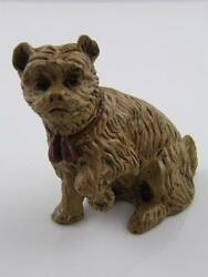 COLD PAINTED BRONZE ENGLISH TERRIER DOG INKWELL
