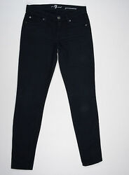 7 For All Mankind Jeans 'GWENEVERE' Black W24 L30 AU6 US2 UK4 EUC Women or Girls