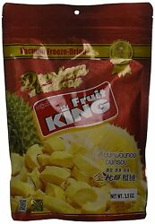 King Fruit - Vacuum Freeze Dried Durian Fruit - 3.5 Oz (Monthong Chunk)