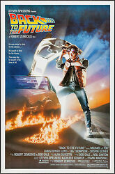 Poster Back To The Future 1985 27x41 Nm 9.4 Rolled Michael J. Fox