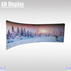 20ft Semi-C Shape Advertising Fabric Display Wall With One Side Printed Banner