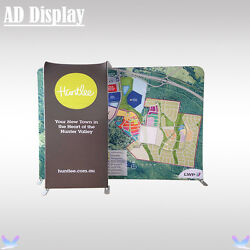 10ft8ft Exhibition Advertising Stretch Fabric Banner Display Wall With Tv Stand