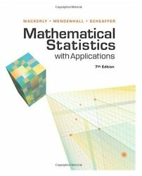 Mathematical Statistics With Applications 7th Edition By Scheaffer Wacklery..