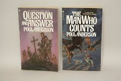 Poul Anderson-lot X2-question And Answer/the Man Who Counts-2nd Ace Whelan-sf345