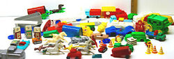 Vintage Mixed Lot Plastic Toys Western Us Horses+stage Coach+trucks+cars+tankers