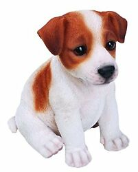 Jack Russell Terrier Puppy Dog - Life Like Figurine Statue Home  Garden NEW