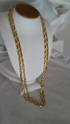 1ar By Unoaerre - 18kt Gold Plated Long Polished Anchor Link Chain Necklace 60l