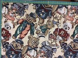 BEAR TAPESTRY FABRIC 57 INCH WIDE 1 1 4 YARDS