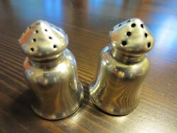 Vtg L 450 Sterling Silver Signed Salt And Pepper Mini Personal Shakers Set 13 Gr.a