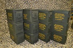 ( 12 Pack ) Combo 50 Cal / 308 Cal AMMO CAN EXCELLENT CONDITION * FREE SHIPPING*