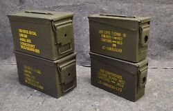 ( 4 Pack ) COMBO 50 Cal / 308 Cal AMMO CAN EXCELLENT CONDITION * FREE SHIPPING *