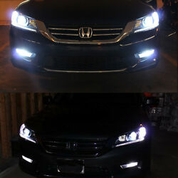 8pcs 2013-2015 Accord Coupe High Low Beam Switchback Stripe Headlight LED Bulbs