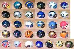 Replacement 2 Nfl Mini Helmets For Mighty Helmet Racers Game Choose One