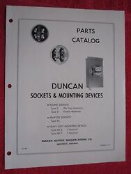 1953 Duncan Watthour Meter Sockets And Mounting Devices Parts Catalog