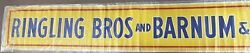 Antique Ringling Bros and Barnum & Bailey Circus Litho Banner Poster | c. 1942