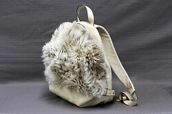 NWT $3095 Brunello Cucinelli Womens 100% Plush Fur & Soft Leather Combo Backpack