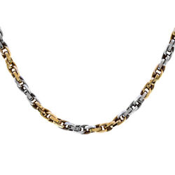 14k Two Tone Gold Anchor Link 16 Inch Chain 23.6 Grams