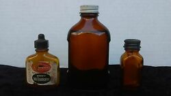Vintage Apothecary Medicine Bottles Lot Of 3 1980's