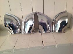 2 Pair Boat Vents Rechromed Stamped Brass . Plated Feb 17and039
