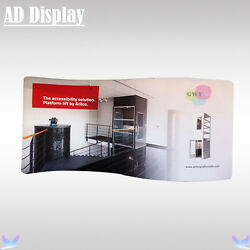 16.5ft*8ft S Shape Advertising Stretch Fabric Wall With One Side Printed Banner