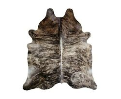 New Brazilian Cowhide Rug Leather BRINDLE EXOTIC 6#x27;x8#x27; Cow Hide Rug Cow Leather