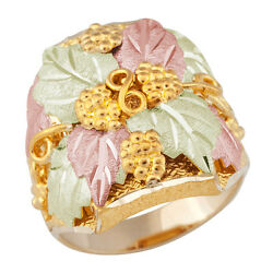Landstrom's® Mens Black Hills Gold Grapes And Leaves Ring Size 9 To 14