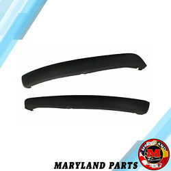 2012-2014 Ford Focus Lower Bumper Valence Trim Pair BOTH - Black Plastic