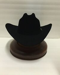 STETSON 30X HAT BEAVER FUR-EL PATRON-Black-New WTag-+FREE BRUSH