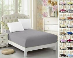 2 Pack Twin XL Fitted Sheet For Split King amp; Dorm Bed 39quot;*80quot; Extra Long Twin