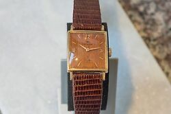Reduced Very Rare 1961 Gold Hamilton Sherwood M - Wood Dial - Exceptional