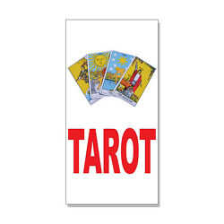 Tarot Red Decal Sticker Retail Store Sign